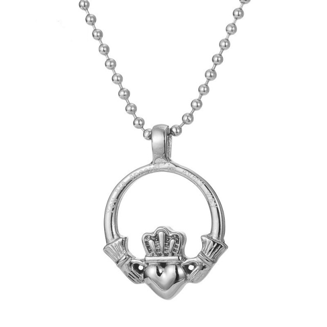 claddagh small plated with heart gold pendant pen pendants necklaces platinumware