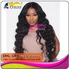 Middle parting Front Lace Wigs 300% Density  For Black Women 7A Brazilian Wig body wave Lace Front Human Hair Wigs