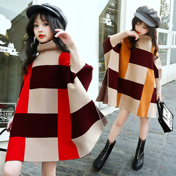 Newborn baby knitted clothes batwing knitwear warm winter toddler tops turtleneck plaid pullover parka cape cloak batwing sleeve фото