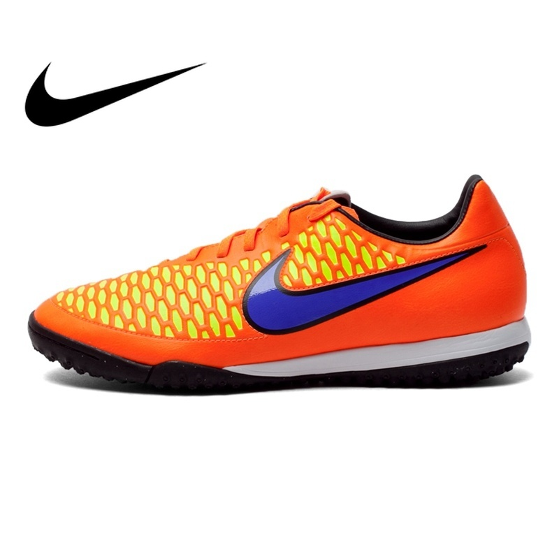Original NIKE MAGISTA ONDA TF Men's Soccer Shoes Football New Sneakers Men DMX Leather Waterproof Lace-up Soccer Boots 651549 nike nike magista onda fg page 2 page 4 page 5