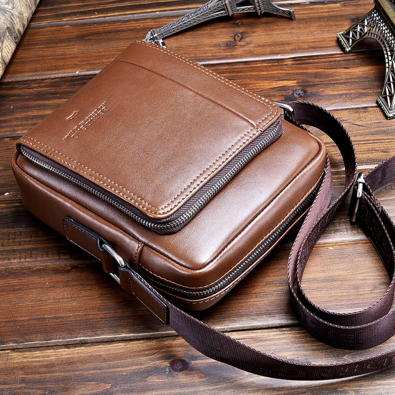 ФОТО Casual Fashion Small Men Leather Cross-body Bags Male Shoulder Messenger Bags Brand Design Men Business bag Phone bags
