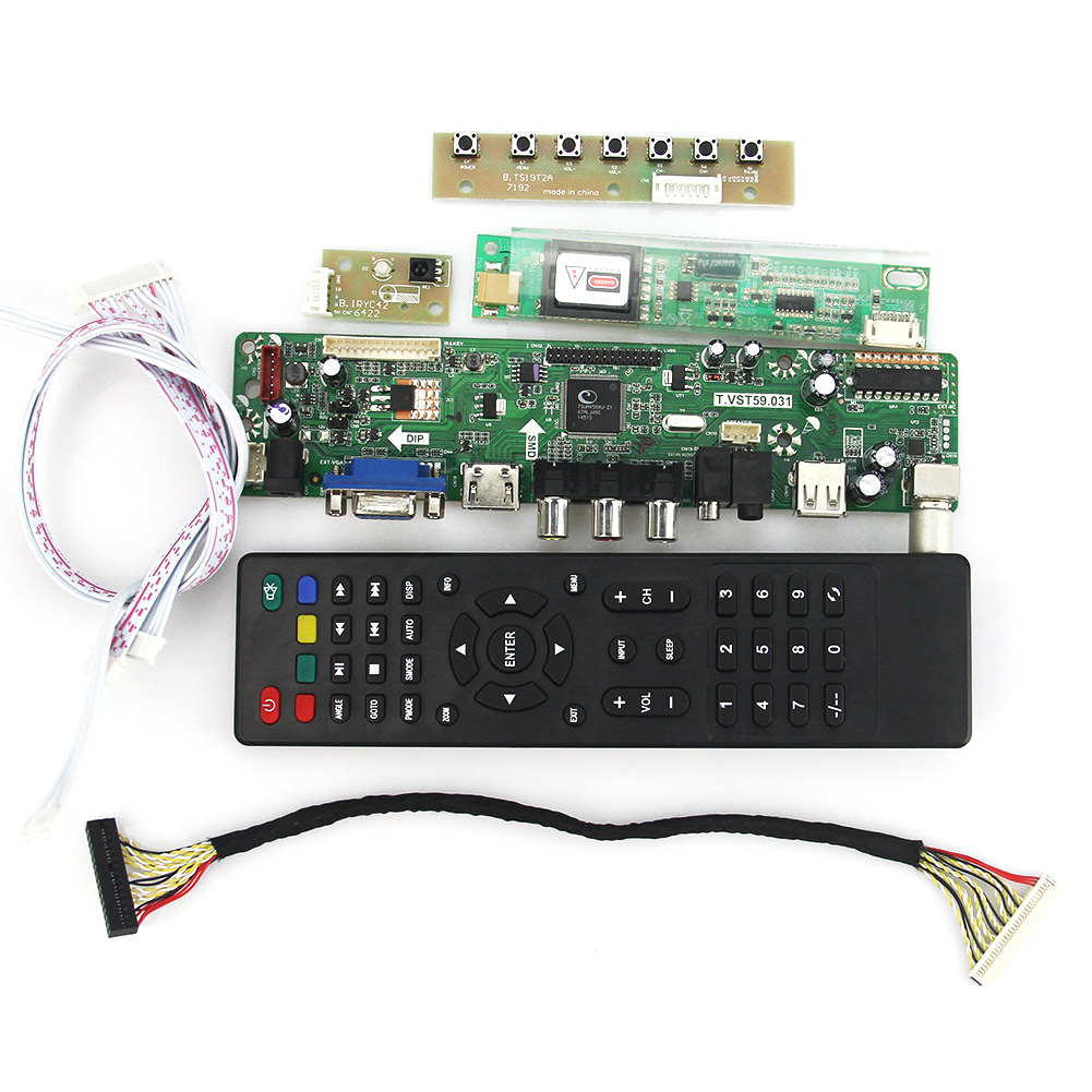 T.VST59.03 LCD/LED Controller Driver Board For LP141WX1-TLE1 LP141WX5-TLC1 (TV+HDMI+VGA+CVBS+USB) LVDS Reuse Laptop 1280x800 lcd led controller driver board for b156xw02 ltn156at02 t vst59 03 tv hdmi vga cvbs usb lvds reuse laptop 1366x768