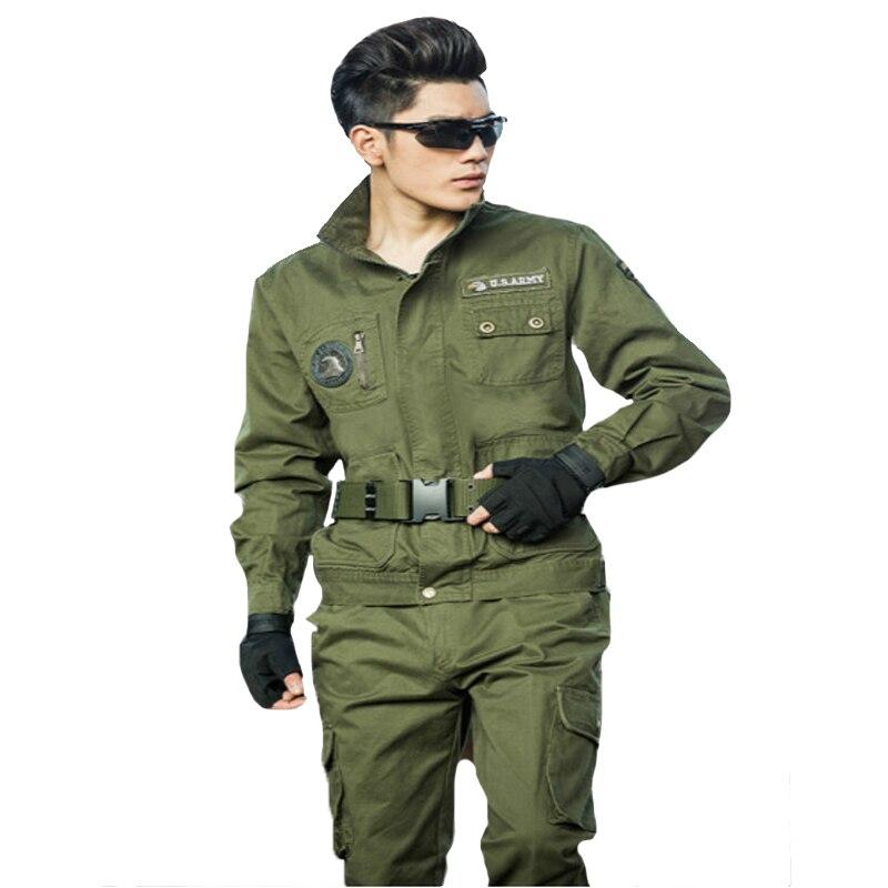 parrot квадрок airborne night blaze Mens 101 Airborne Bomber Military Tactical Flight Suits Commando Jacket+Pants Army Special Forces Combat Uniform Cotton Sets
