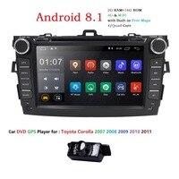 Авто Радио 2 din Android 8,1 DVD плеер автомобиля для Toyota corolla 2008 2007 2009 2010 2011 мультимедийное головное устройство gps навигации wi fi