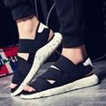 ¡ Venta caliente! 2016 Nueva Llegada Sandalias SANDALIAS KAOHE Y3 Hombres Interiores Zapatillas de punta Abierta Sandalias de Cuero Sandalias de Los Hombres de Calidad Superior
