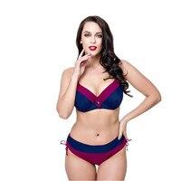 Mortonpart Bikini Set For Women Biquini Padded Bra Push Up Big Cup Swimsuit Female Summer Bather Swimwear Large Size Bikini 2018