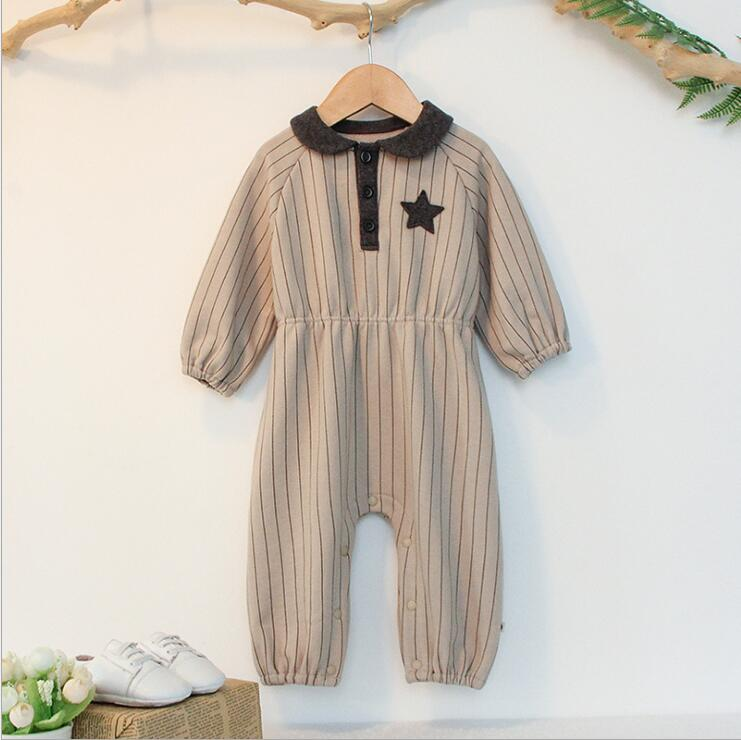 2019 new wholesale baby girls boys striped romper cotton pring babys jumpsuit 6M-2T HF804
