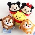 5 unids Tsum Tsum el mini colgante de lot Minnie y Mickey mouse Winnie las ardillas figuras muñecas llavero para el regalo envío gratis
