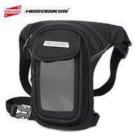 HEROBIKER Motorcycle Bag Waterproof Motorcycle Tank Bag Punk Waist Leg Bag Motorcycle Saddle Multi functional Pockets