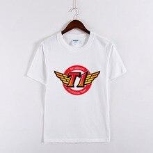 100% Cotton LOL SKT1 SK Telecom T1 Pro Game Team Men T-shirts Tops And Tees Cosplay Clothes Summer Fashion T Shirt Eu Big Size