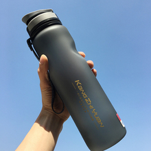 Water Bottle Large Capacity Plastic Sports Outdoor Fitness Bicycle Cup Portable Frosted Space 1000ml