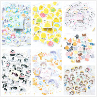 (1Pack/Sell) Cute Latest Memo Pad Diary Stickers Pack Posted It Kawaii Planner Scrapbooking Stationery Escolar School Supplies Memo Pads