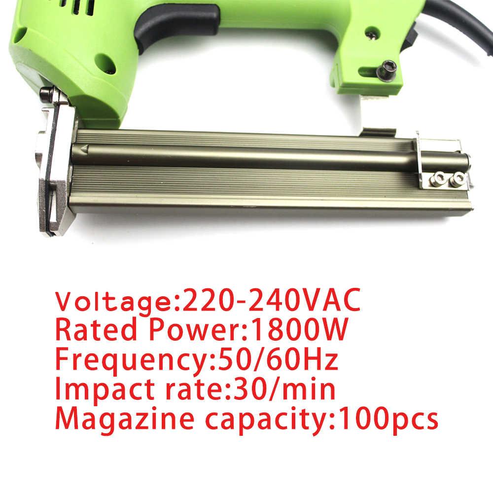 2 trong 1 Khung Tacker Điện Móng Tay Staple Gun 220 v Điện Công Cụ Điện Điện Bấm Kim Gun Với 600 cái móng tay