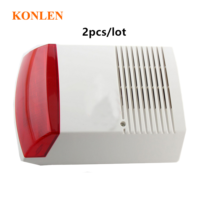 wired outdoor electronic siren sounds with strobe, big size sirene alarm 120db, DHL free ship 2pcs/lot(Hong Kong,China)