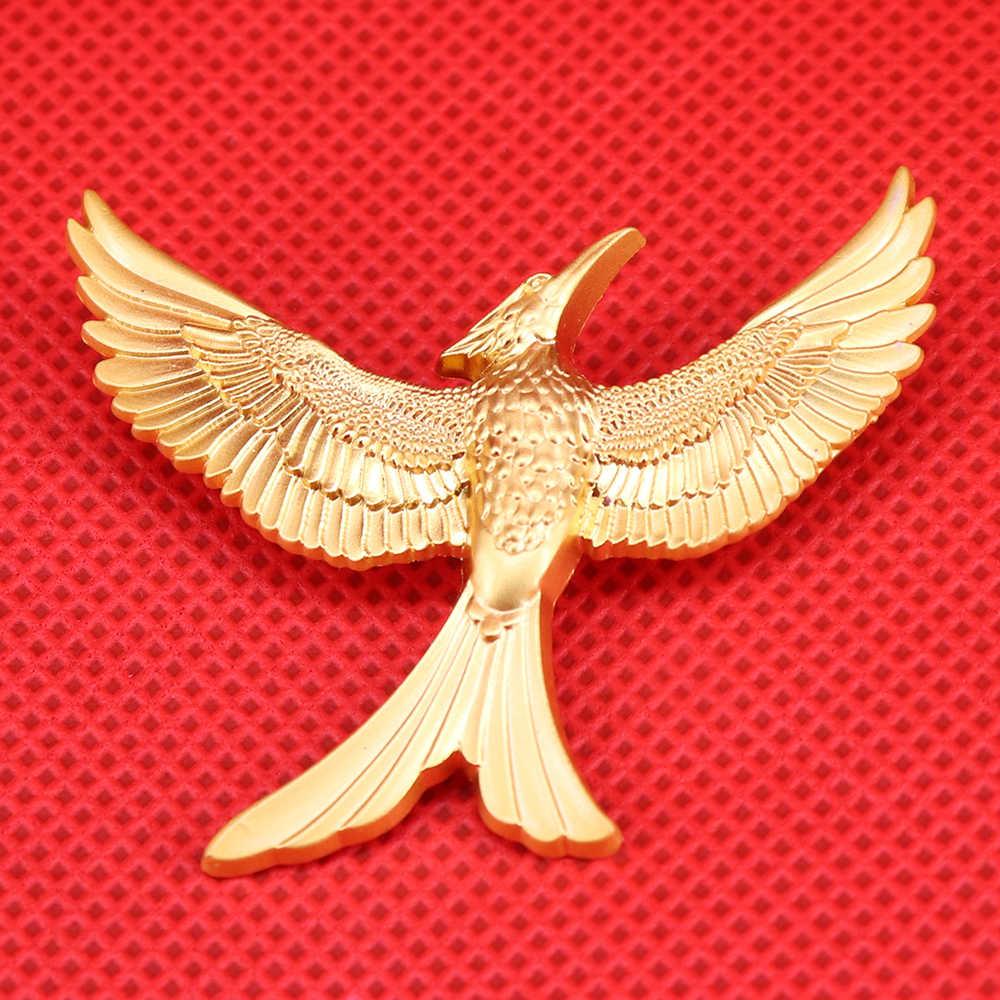 Broche oiseau volant broche faucon or oiseaux épingles de la faune amoureux de la nature cadeau flamant rose badge bijoux animaux hommes veste accessoires