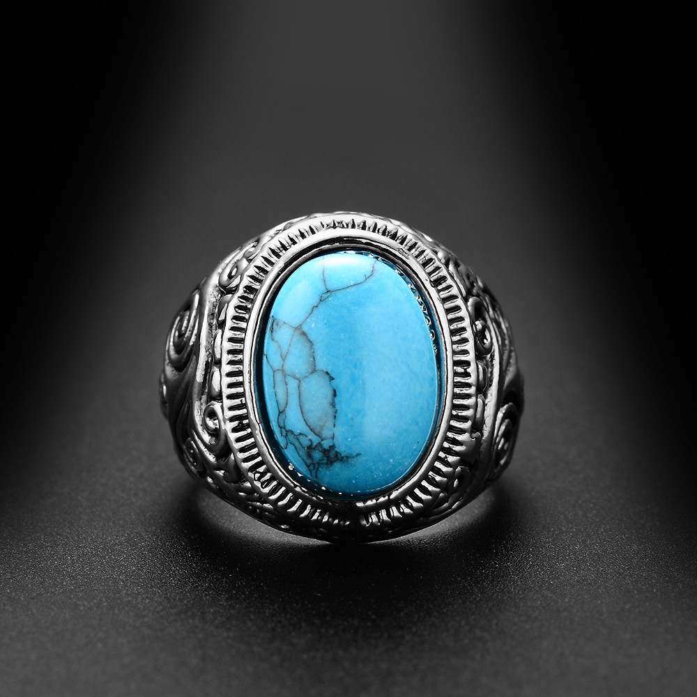 Beautiful Tibetan Silver Vintage Stone Ring. | Moon Discount