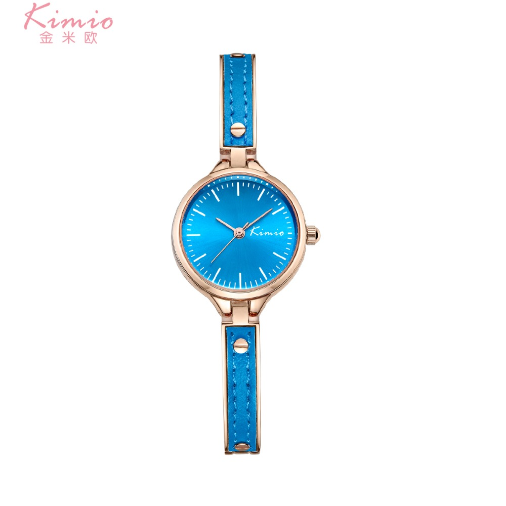 Kimio watches Woman Ladies Dress Crystal Leather Strap Quartz Bracelet Watches Girl Elegant Clock Relogio Feminino With Gift Box kimio new fashion leather strap women quartz casual bracelet watch clock female ladies girl dress wristwatch relogio and box