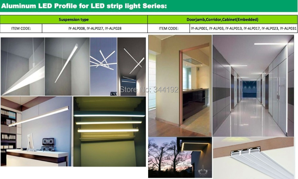 2 5m pcs 100m Lot Free shipping LED Aluminum Profile with PC Cover Cabinet Wardrobe Aluminum Channel LED Strip bracket Holder in Brackets from Home Improvement