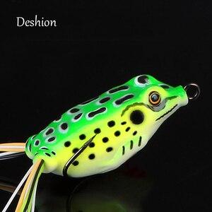 Image 4 - Deshion Topwater miękka przynęta żaby przynęty 15g 13g 8g 6g miękkiego silikonu przynęty żaby przynęta wędkarska