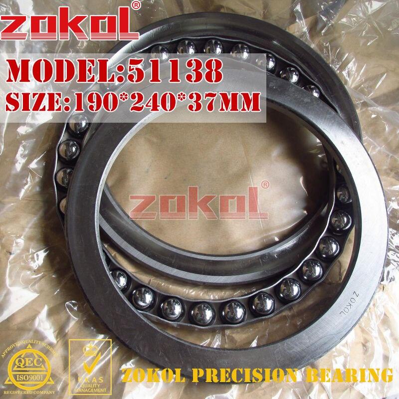 ZOKOL bearing 51138 Thrust Ball Bearing 8138 190*240*37mm zokol bearing 51238 thrust ball bearing 8238 190 270 62mm