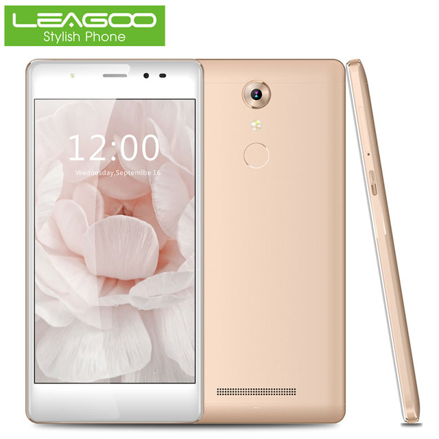 Leagoo MTK6737 T1 5.0 дюймов 4 Г Смартфон Quad Core 2 ГБ ОПЕРАТИВНОЙ ПАМЯТИ 16 ГБ ROM Мобильный Сотовый Телефон Отпечатков Пальцев Dual SIM 13.0MP WiFi GPS
