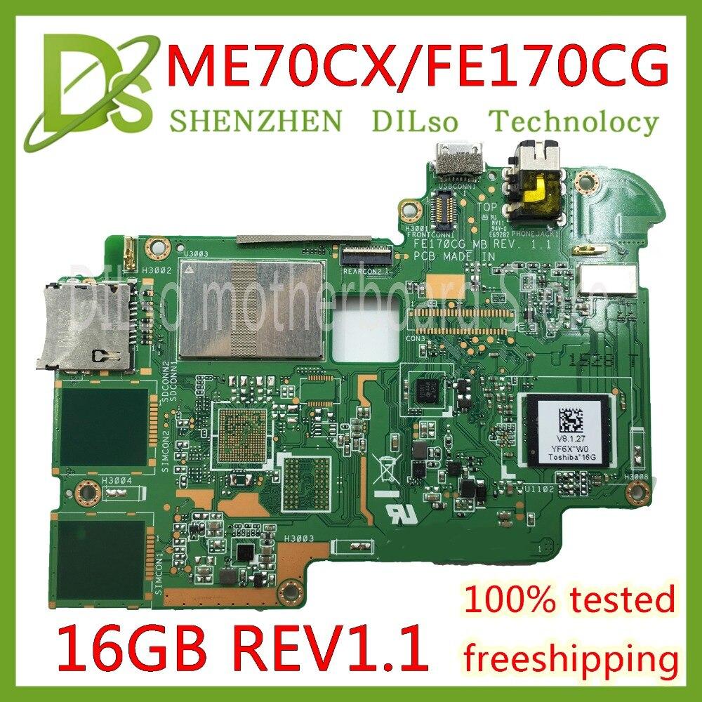KEFU ME70CX For ASUS ME70CX FE170CG MeMO Pad 7 board 60NK01A0-M88000-100 Test 16GB memory original board