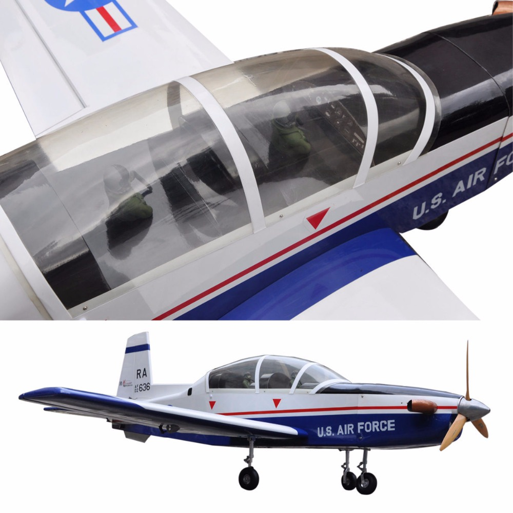 Sport Scale Plane T 6A Texan II RC Airplane Gas 8 CH 30cc 78.7 Balsa Wood Aircraft