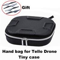 Saco portátil eva caso de transporte para ryze tello wifi drone bateria cabo armazenamento caso bolsa à prova dwaterproof água caixa protetor