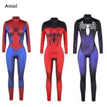 Ainiel Homecoming Spiderman Cosplay Costume Venin Body Fer Araignée homme  Salopette Avengers  Infinity Guerre Halloween 539b10ac616