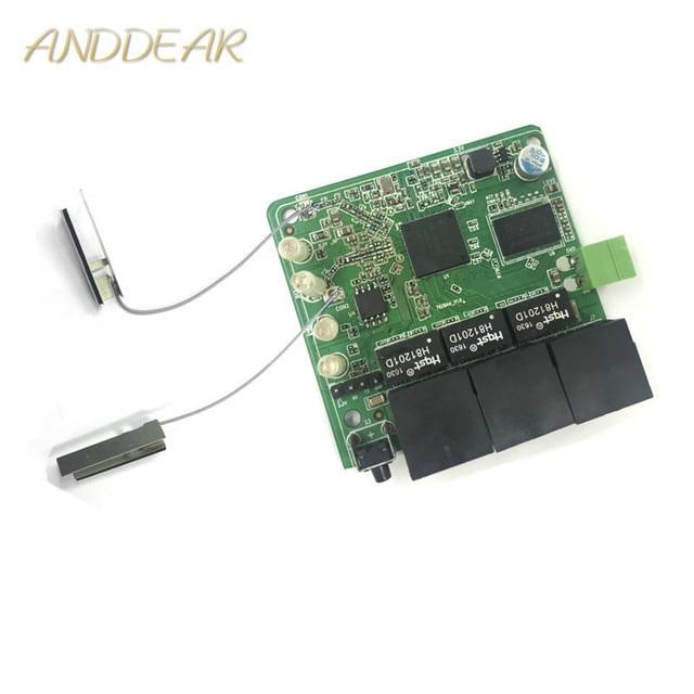 3 port 10/100Mbps اللاسلكية إيثرنت راوتر وحدة تصميم إيثرنت راوتر وحدة ل إيثرنت PCBA مجلس OEM اللوحة الأم