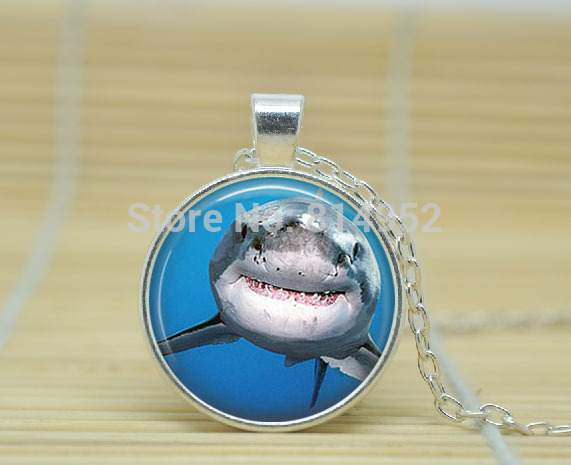 10pcs great white shark necklace shark pendant shark jewelry 10pcs great white shark necklace shark pendant shark jewelry shark charm glass cabochon necklacea1874 in chain necklaces from jewelry accessories on aloadofball Gallery