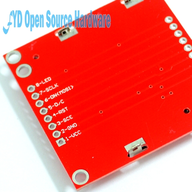 High Quality 84X48 84x84 LCD Module Red backlight adapter PCB for Nokia 5110 for 3