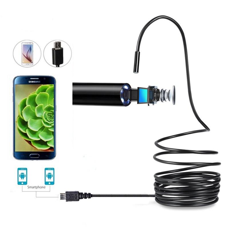 Oloey 1.5 M 7 MM mini fotocamera Endoscopio Ispezione USB Periscopio Del Serpente Del Tubo Impermeabile IP67 Android Mini Telecamere Micro Camera