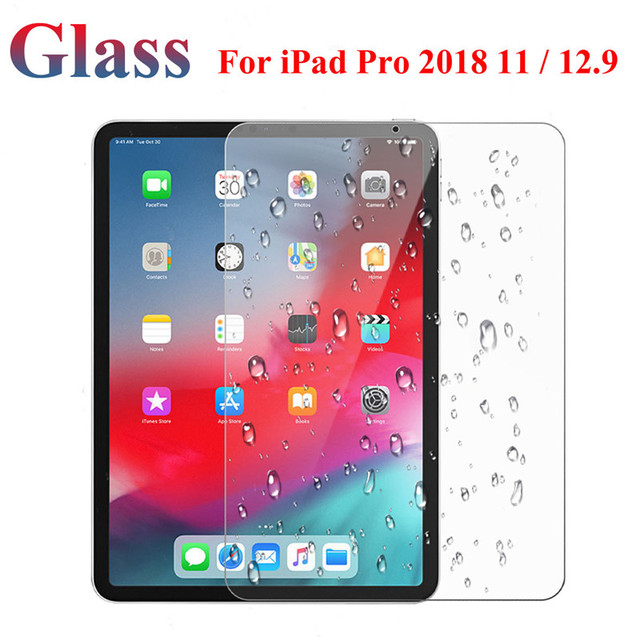 newest 3b39c 6e4bf US $4.49 25% OFF|Tempered Glass For iPad Pro 2018 11 12.9 Tablet Screen  Protector Anti Scratch Screen Cover For iPad Pro 11