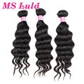 Free shipping human hair extension malaysian hair weave more wavy 3pc lot 100g full and thick ms lula hair