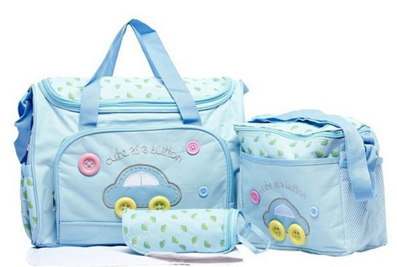 402914cm 4PCS Car Print Mother Bag Baby Diaper Bags Sets Multifunctional Baby Nursing Nappy Bag For Mom Organizer Portable (3)