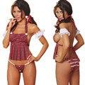 2016 Hot Cosplay jóvenes Estudiantes cargados de ropa interior Sexy mujeres Sin Respaldo lencería Sexy disfraces Eróticos juguete juego de rol estudiante