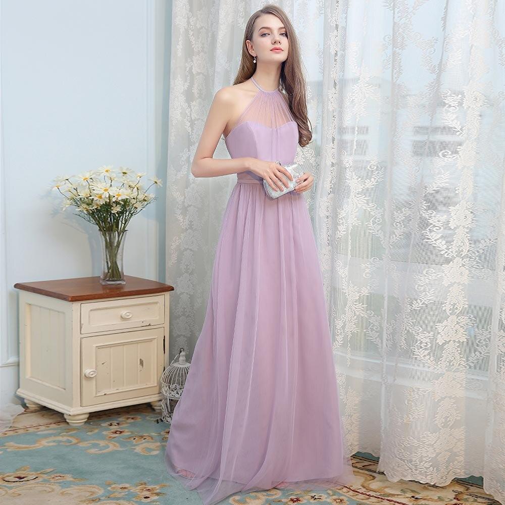 BeryLove Simple Light Purple Tulle Evening Dresses Long Halter Prom Dresses  2018 Formal Evening Gowns Women Party Dress For Prom-in Evening Dresses from  ... ea1ed50915db