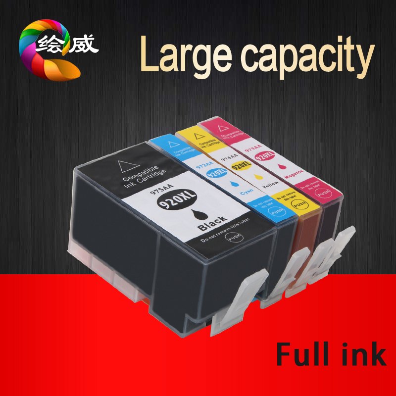 4pk volle tintenpatrone für hp 920 xl kompatibel für hp Officejet 6000...