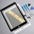 100% testado alta qualidade branco novo vidro da tela de toque para o ipad air 1 para ipad 5 substituição com ferramentas e adesivo livre grátis