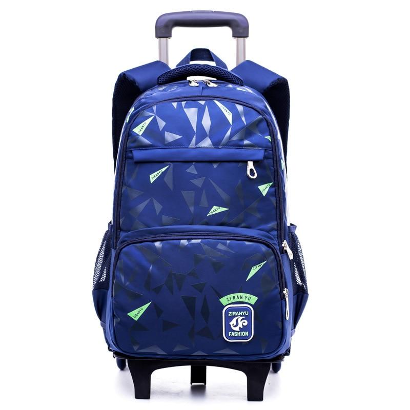 Kids Wheels Removable Trolley school Backpack Wheeled Bags Children School Bag Boys Travel Bags Child School Backpacks mochilas цена и фото
