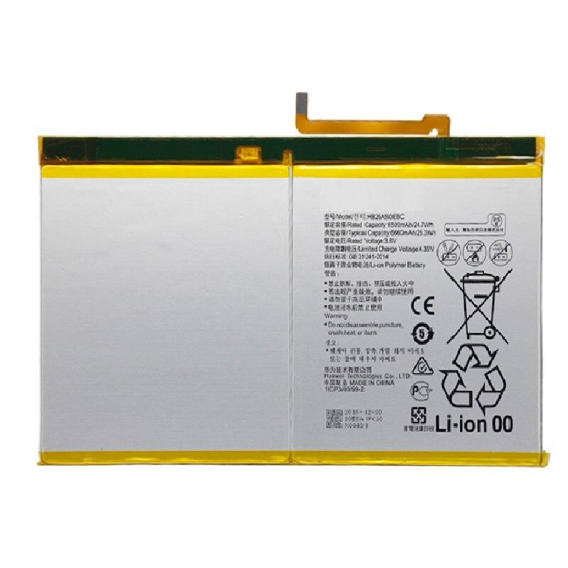 Bateria do Tablet substituição HB26A510EBC Para Huawei MediaPad M2 10 M2-A01W M2-A01L 6660 mah celular plana