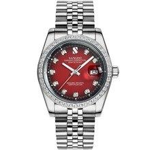 38 ММ SANGDO мужские часы Автоматическая Self-ветер движения Высокое качество Роскошные Механические часы 332HH