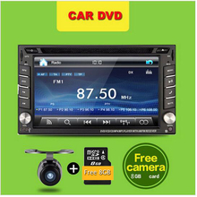 6.2 inch Double 2din Car DVD Player GPS Navigation Car headunit  audio Car Stereo radio Player built-in Bluetooth+ iPod +Camera