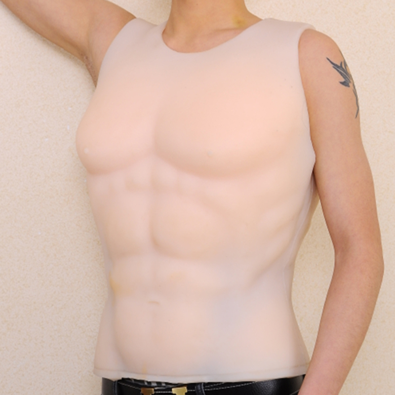Dress party man fake chest muscle belly macho artificial Simulation muscles