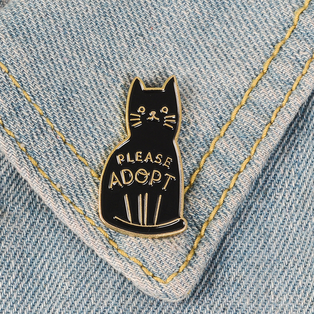 Introvert Loner Loser Club Enamel Pins Autism Badges Custom Cat Brooches Bag Clothes Lapel Pin Punk Black White Jewelry Gift 4