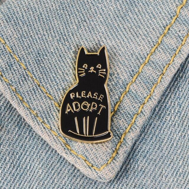 Introwertyk Loner przegrany Club emalia szpilki autyzm odznaki niestandardowe broszki z kotami torba ubrania przypinka Punk czarny biały biżuteria prezent