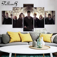 FULLCANG harry potter 5 piece diamond painting movie character full square/round drill diy mosaic embroidery picture sale FC1532