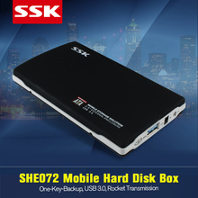 """SSK SHE072 USB 3.0 Metal HDD Enclosure SATA 2.5"""" External HDD Case Up to 5.0 Gbps 2.5 inch Hard Disk Box for laptops OTB"""