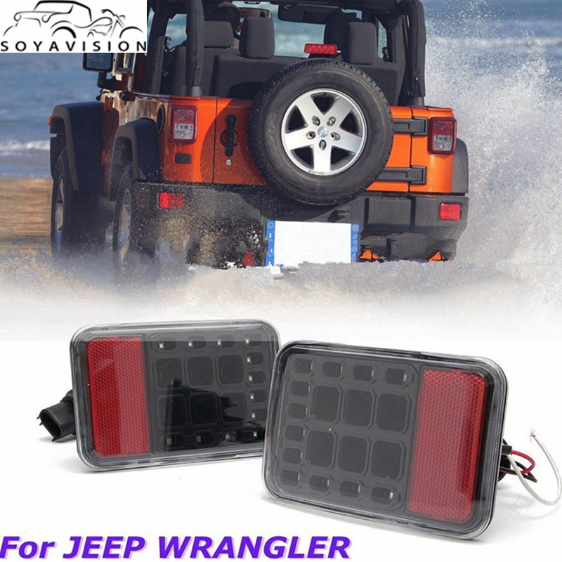SOYAVISION LED Rear Bumper Tail Reversing Lights Clear Lens For JEEP WRANGLER JK 07 16 Accessories